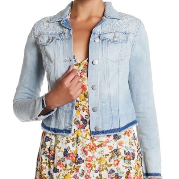 b4d21fef1c Jessica Simpson Jackets & Blazers - Jessica Simpson Pixie Embroidered Fra Denim  Jacket